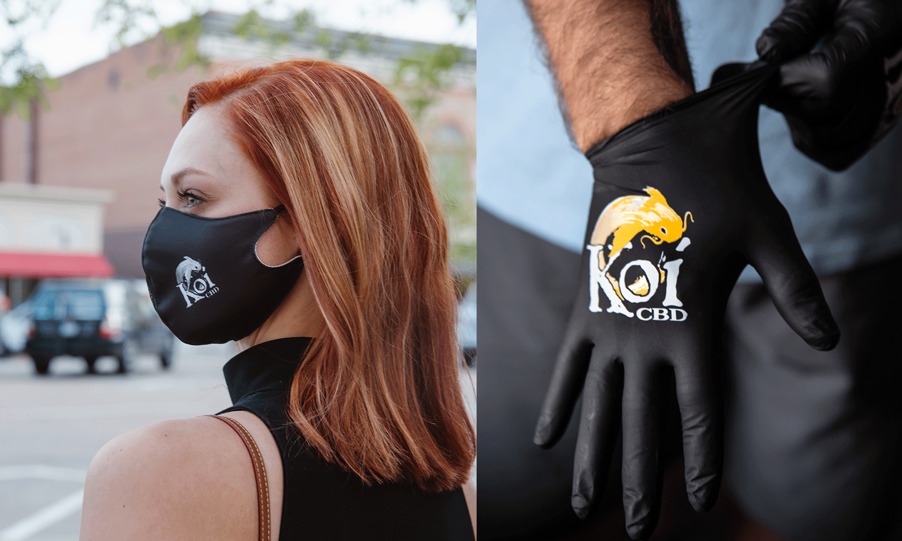 Free Koi Face Mask and Nitrile Gloves with orders over $50