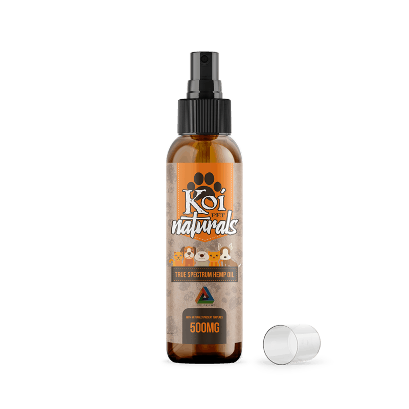 koi naturals 500mg true spectrum hemp oil pet spray